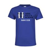 Youth Royal T Shirt-Soccer