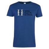Ladies Royal T Shirt-MHS Horizontal Distressed