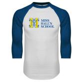 White/Royal Raglan Baseball T Shirt-MHS Horizontal