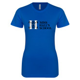 Next Level Ladies SoftStyle Junior Fitted Royal Tee-MHS Horizontal