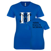 Next Level Ladies SoftStyle Junior Fitted Royal Tee-MHS Logo