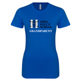 Next Level Ladies SoftStyle Junior Fitted Royal Tee-Grandparent