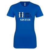 Next Level Ladies SoftStyle Junior Fitted Royal Tee-Sister