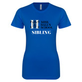 Next Level Ladies SoftStyle Junior Fitted Royal Tee-Sibling