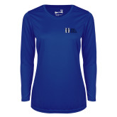 Ladies Syntrel Performance Royal Longsleeve Shirt-MHS Horizontal