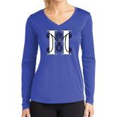 Ladies Syntrel Performance Royal Longsleeve Shirt-MHS Logo