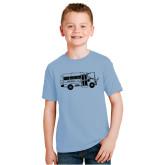 Youth Light Blue T Shirt-MHS Bus