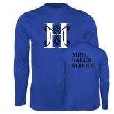 Performance Royal Longsleeve Shirt-MHS Logo