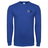 Royal Long Sleeve T Shirt-MHS Horizontal