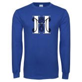 Royal Long Sleeve T Shirt-MHS Logo