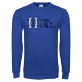 Royal Long Sleeve T Shirt-MHS Horizontal Distressed