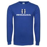 Royal Long Sleeve T Shirt-Hashtag MHS Authenticity