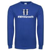 Royal Long Sleeve T Shirt-Hashtag MHS Growth