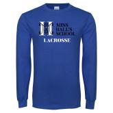 Royal Long Sleeve T Shirt-Lacrosse