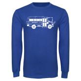 Royal Long Sleeve T Shirt-MHS Bus