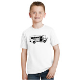 Youth White T Shirt-MHS Bus