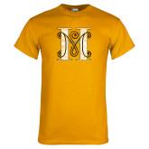 Gold T Shirt-MHS Logo Distressed