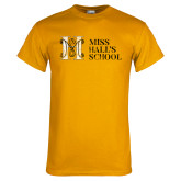 Gold T Shirt-MHS Horizontal Distressed