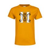 Youth Gold T Shirt-MHS Logo