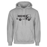 Grey Fleece Hoodie-MHS Bus
