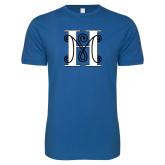 Next Level SoftStyle Royal T Shirt-MHS Logo