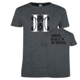 Ladies Dark Heather T Shirt-MHS Logo