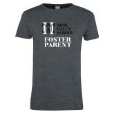 Ladies Dark Heather T Shirt-Foster Parent