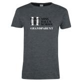Ladies Dark Heather T Shirt-Grandparent