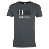 Ladies Dark Heather T Shirt-Sibling