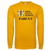 Gold Long Sleeve T Shirt-Parent