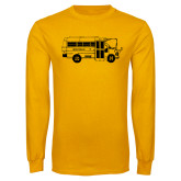Gold Long Sleeve T Shirt-MHS Bus