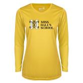 Ladies Syntrel Performance Gold Longsleeve Shirt-MHS Horizontal