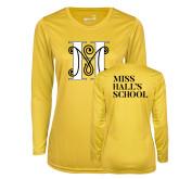 Ladies Syntrel Performance Gold Longsleeve Shirt-MHS Logo