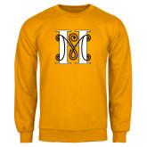 Gold Fleece Crew-MHS Logo