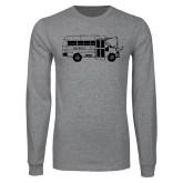 Grey Long Sleeve T Shirt-MHS Bus