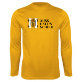 Performance Gold Longsleeve Shirt-MHS Horizontal
