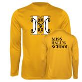 Performance Gold Longsleeve Shirt-MHS Logo