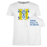 Ladies White T Shirt-MHS Logo