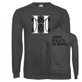 Charcoal Long Sleeve T Shirt-MHS Logo