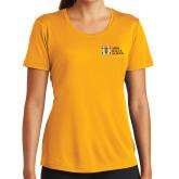 Ladies Syntrel Performance Gold Tee-MHS Horizontal