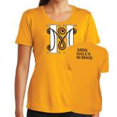 Ladies Syntrel Performance Gold Tee-MHS Logo