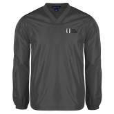V Neck Charcoal Raglan Windshirt-MHS Horizontal