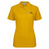 Ladies Easycare Gold Pique Polo-MHS Horizontal
