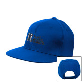 Royal Flat Bill Snapback Hat-MHS Horizontal