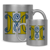 Full Color Silver Metallic Mug 11oz-MHS Logo