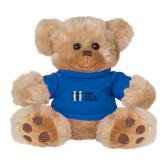 Plush Big Paw 8 1/2 inch Brown Bear w/Royal Shirt-MHS Horizontal