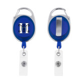 Blue Oval Retractable Badge Holder w/Clip-MHS Logo
