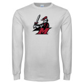 White Long Sleeve T Shirt-M with Knight