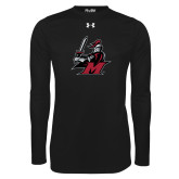 Under Armour Black Long Sleeve Tech Tee-M with Knight