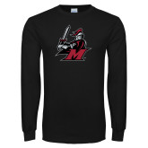 Black Long Sleeve T Shirt-M with Knight